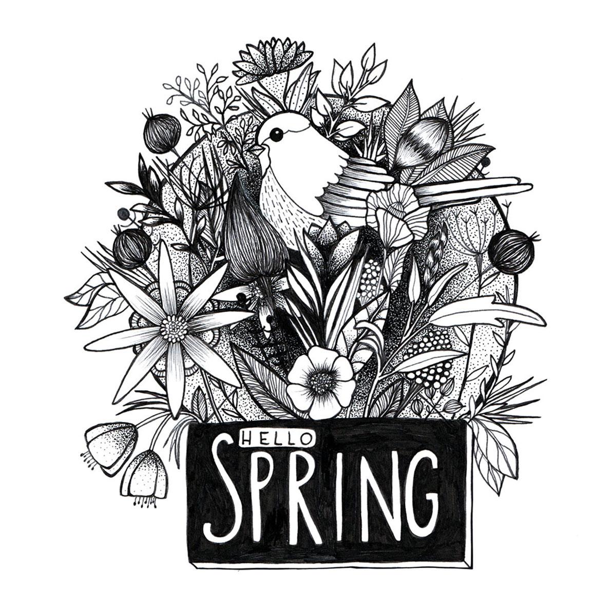 Illustration Hello Spring!
