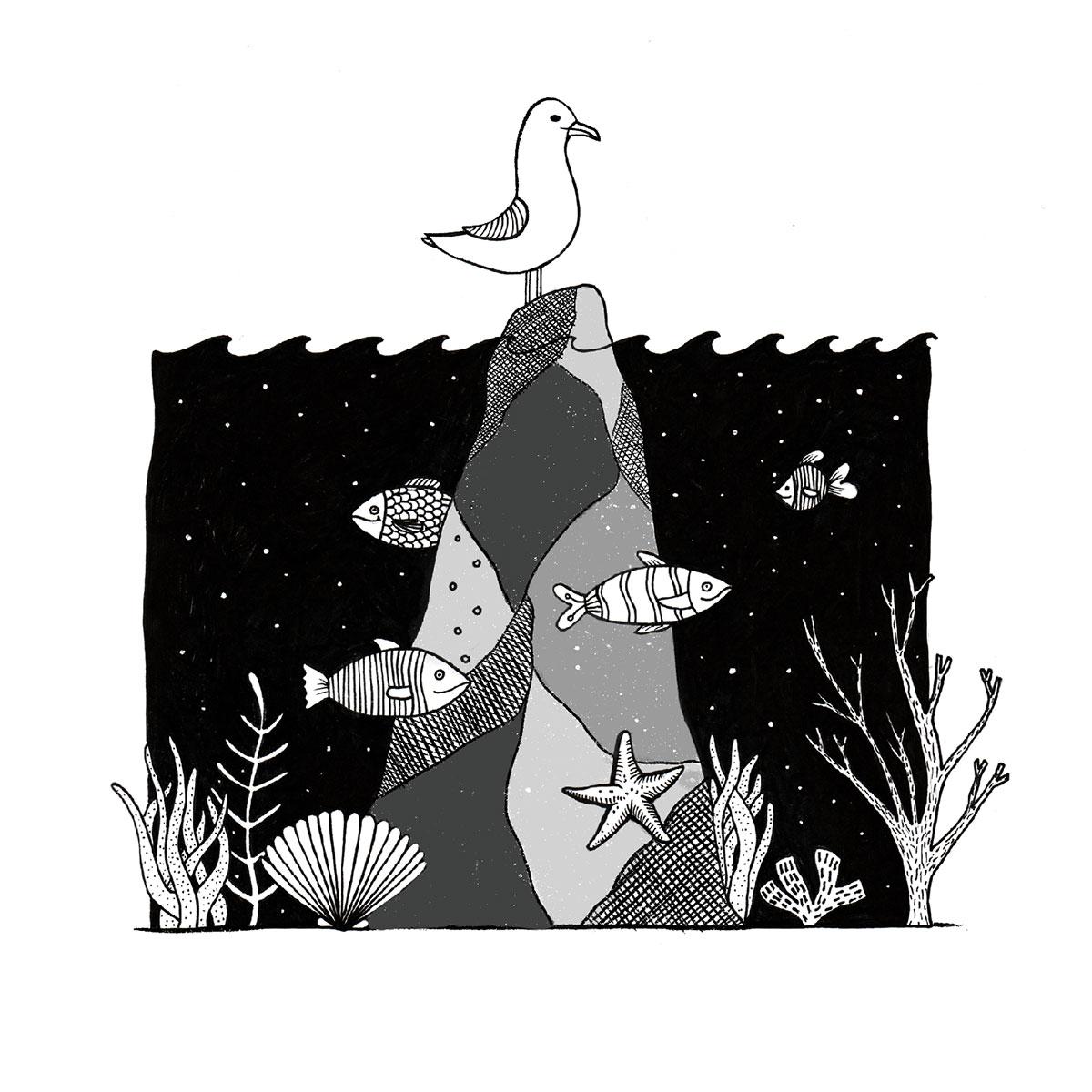 Illustration Unterwasser