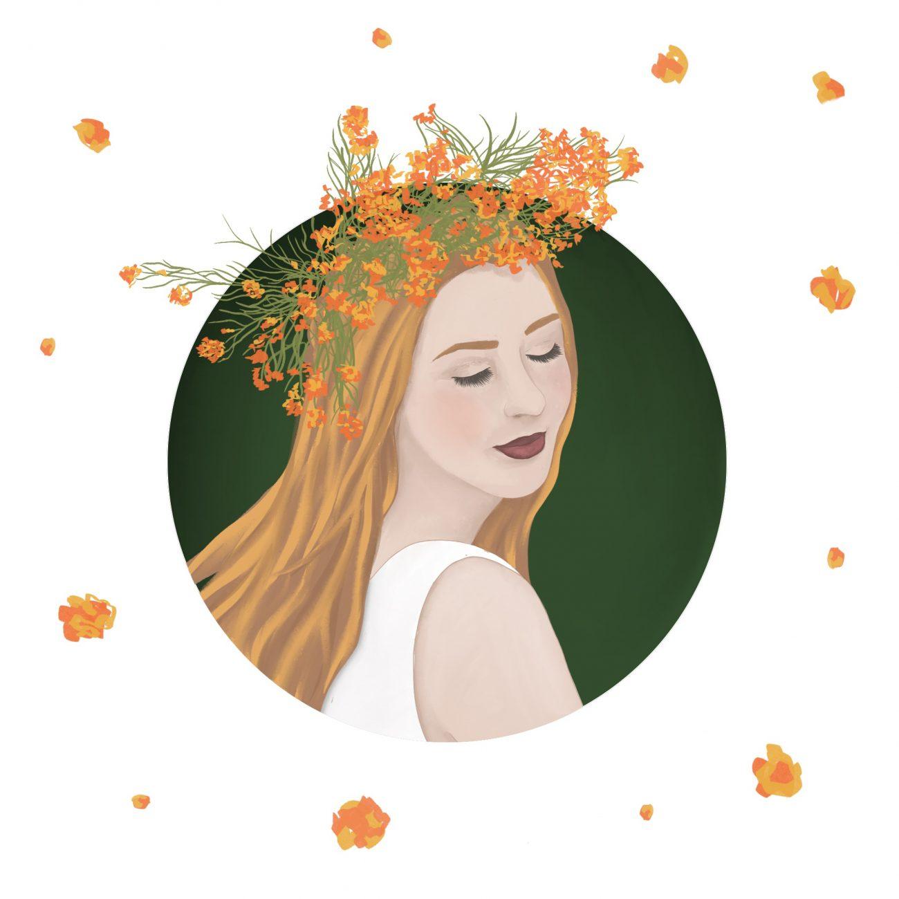 Illustration Blumenmädchen