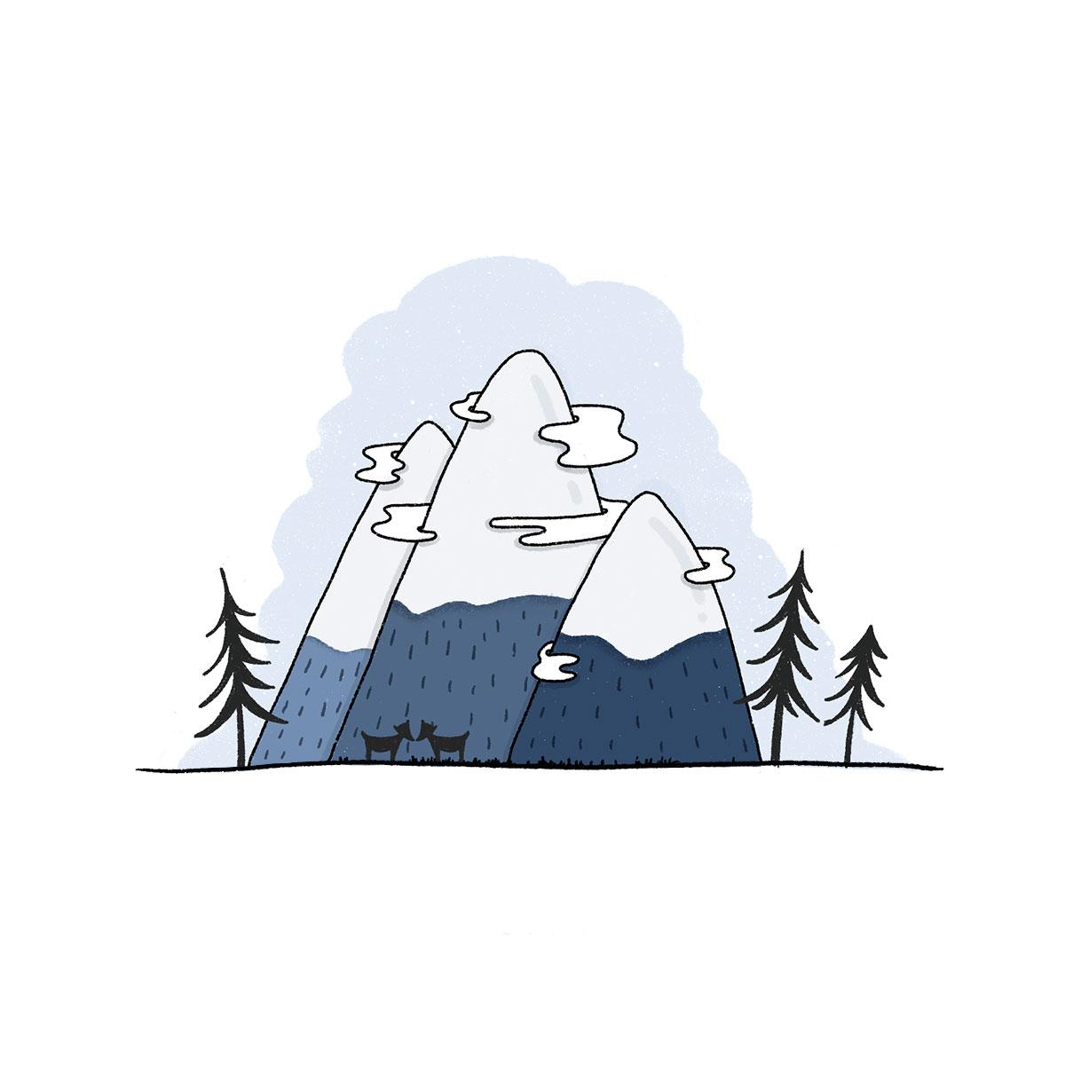 Illustration Berge