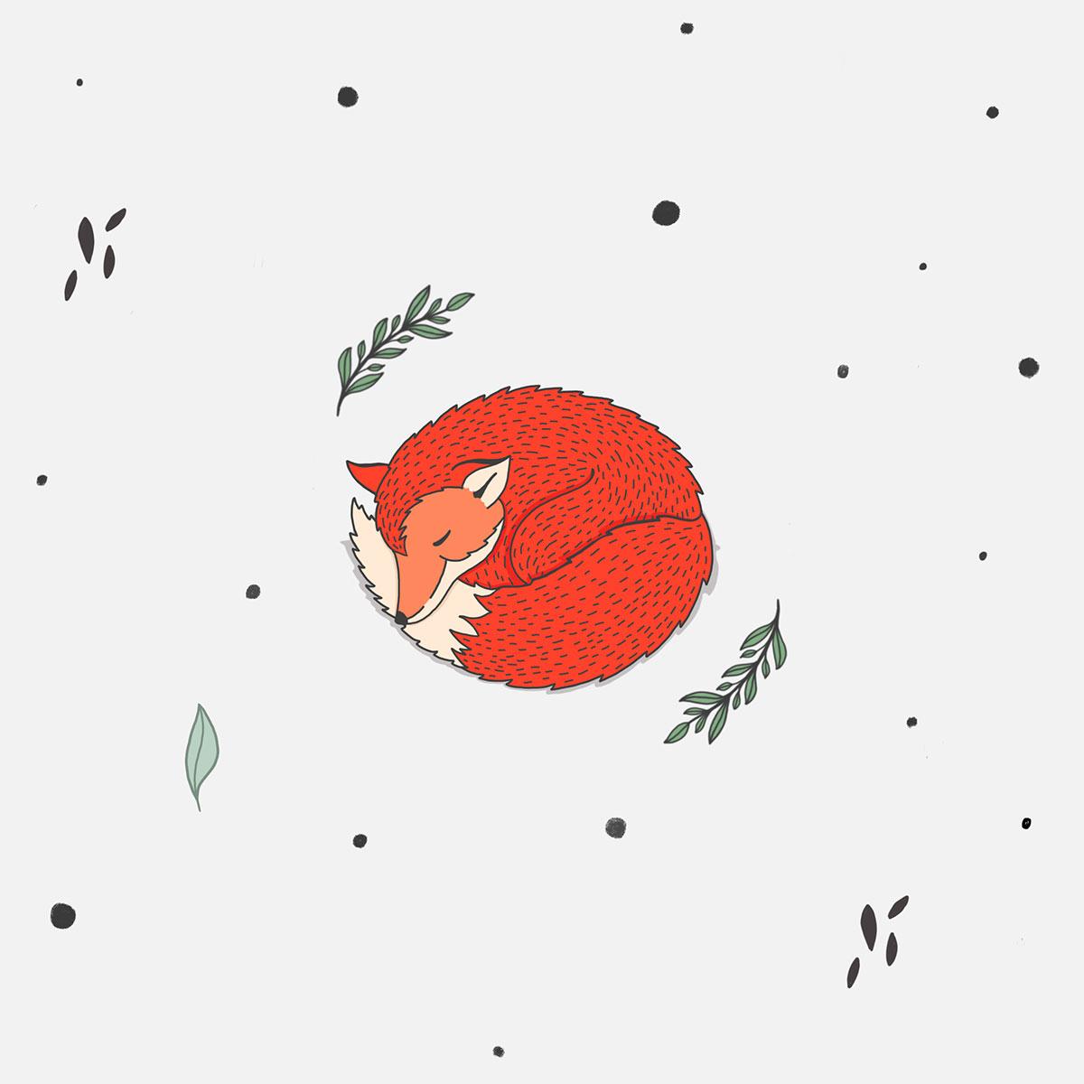 Illustration Waldtiere - Fuchs