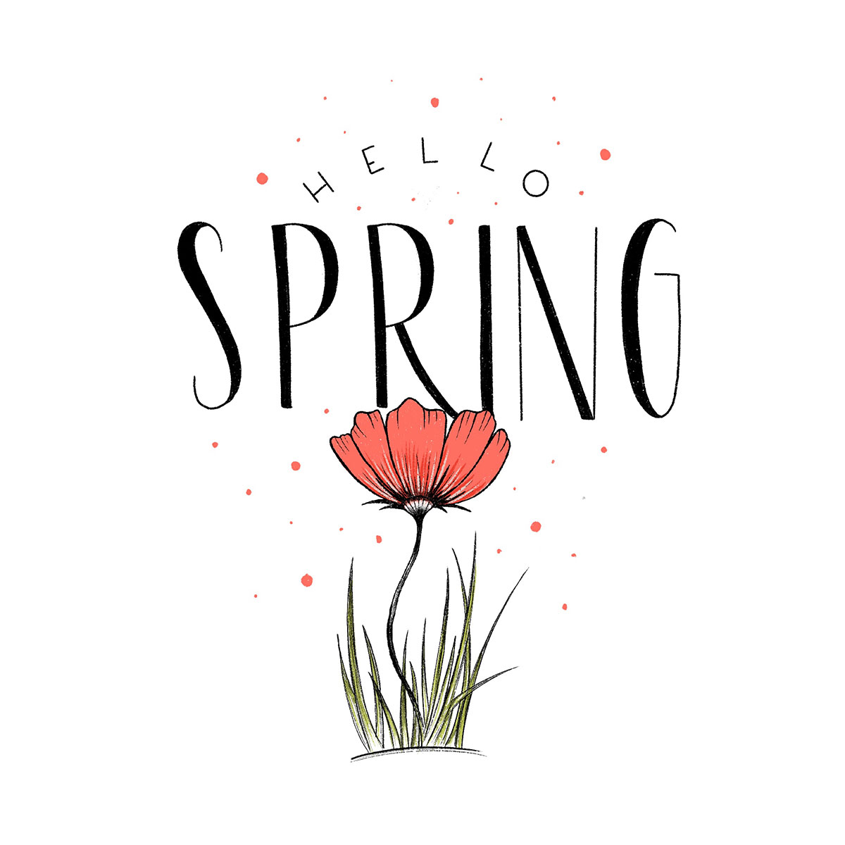 Lettering - Hello Spring!