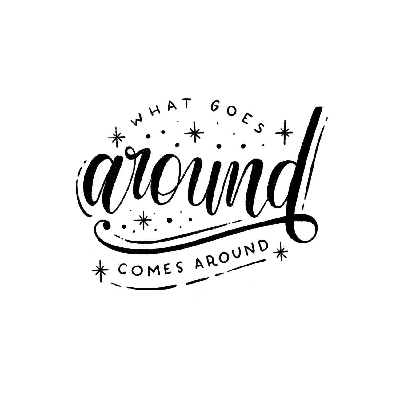 Lettering - What goes around