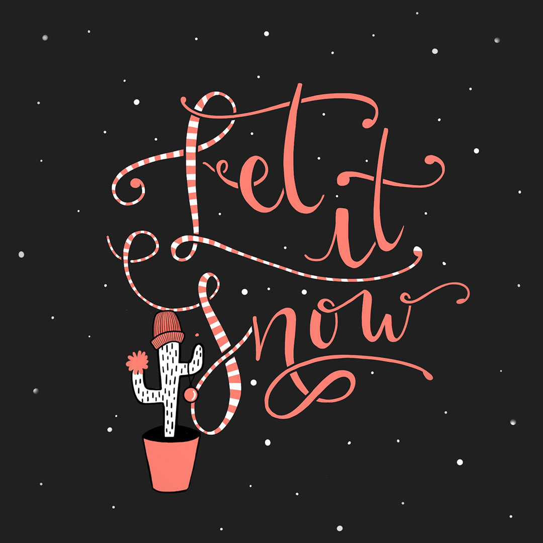 Lettering - Let it Snow