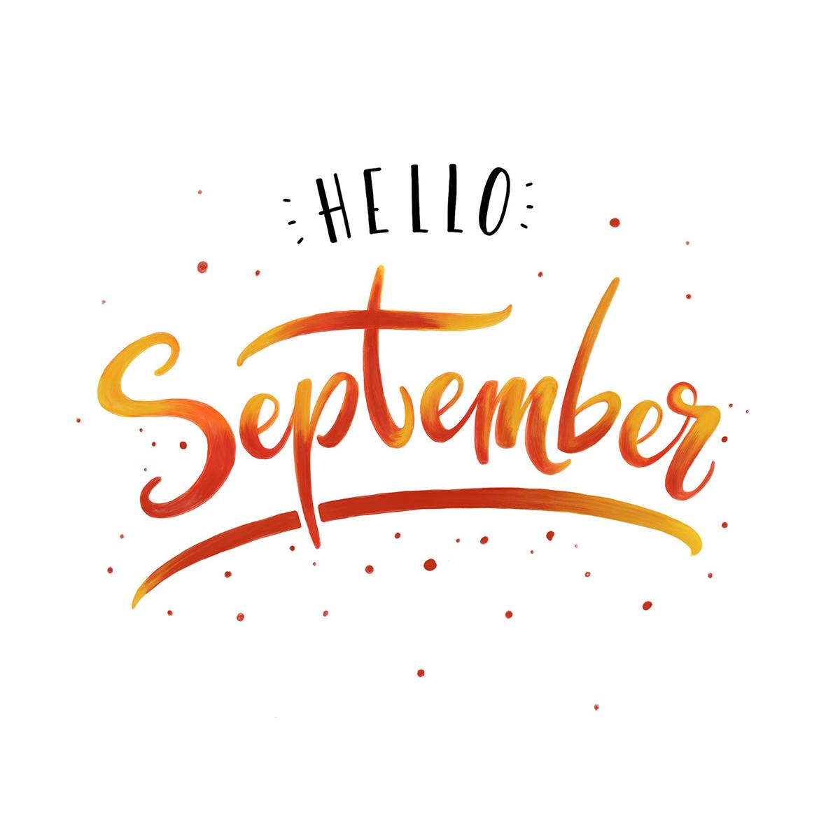 Lettering - Hello September!
