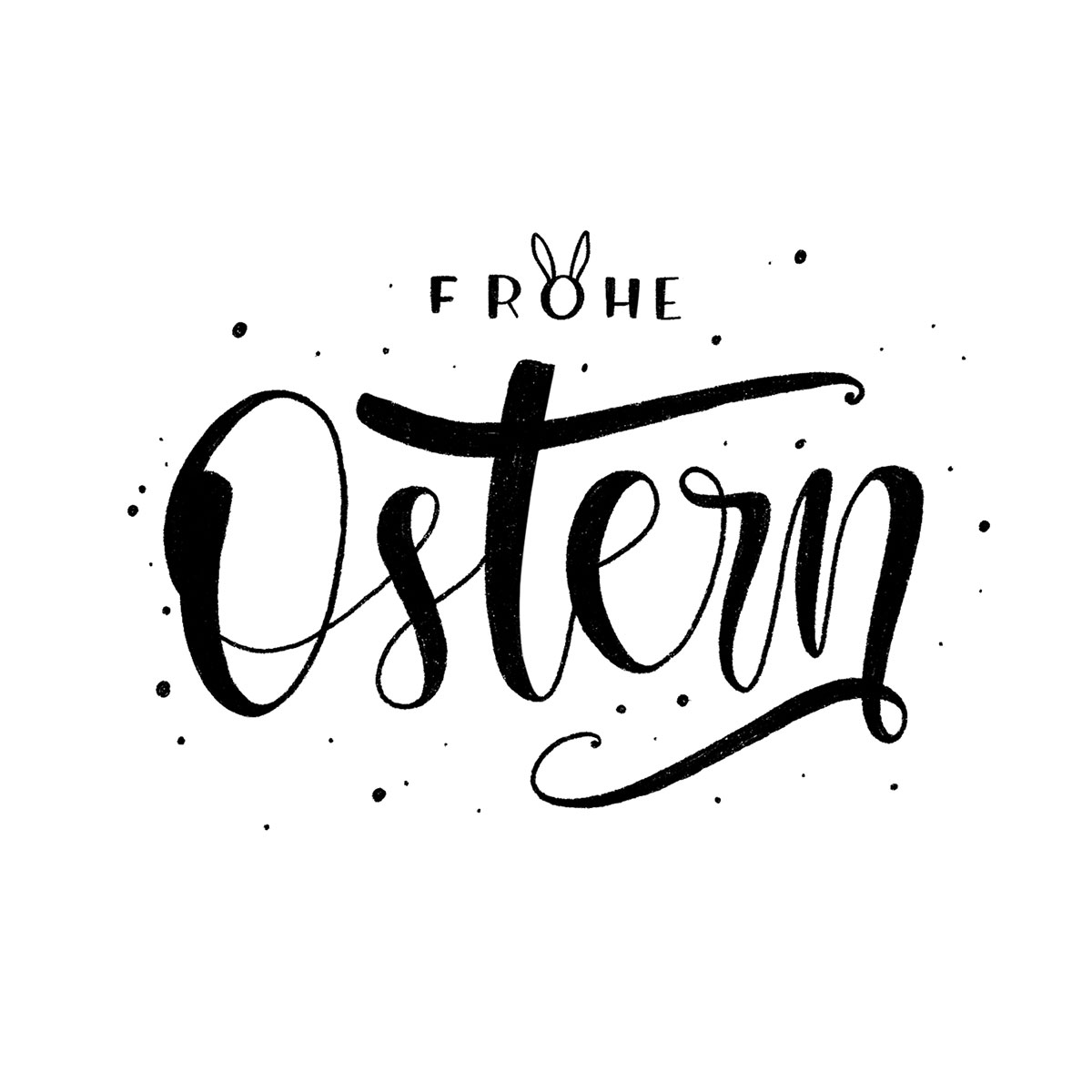 Lettering - Frohe Ostern!
