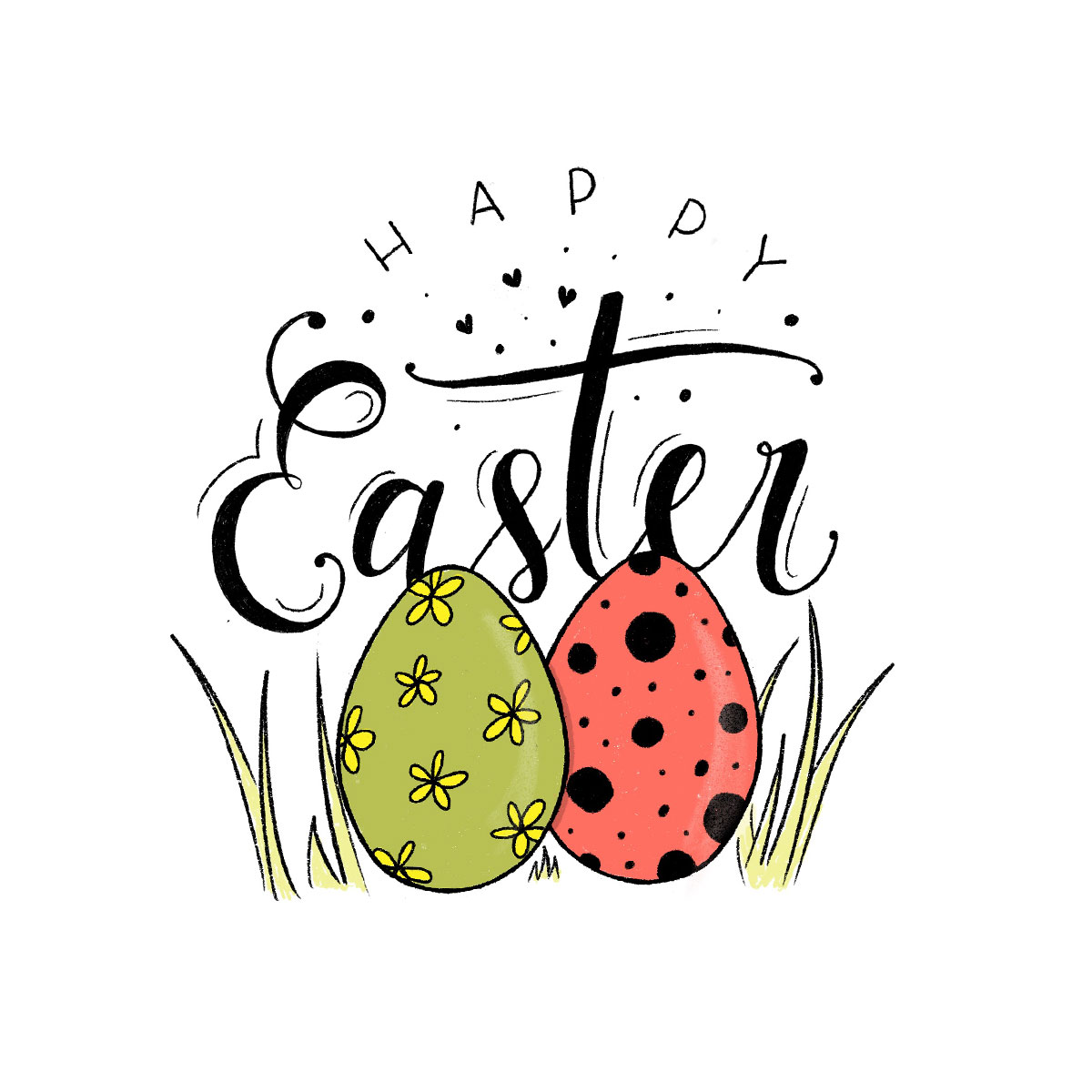 Lettering - Happy Easter!