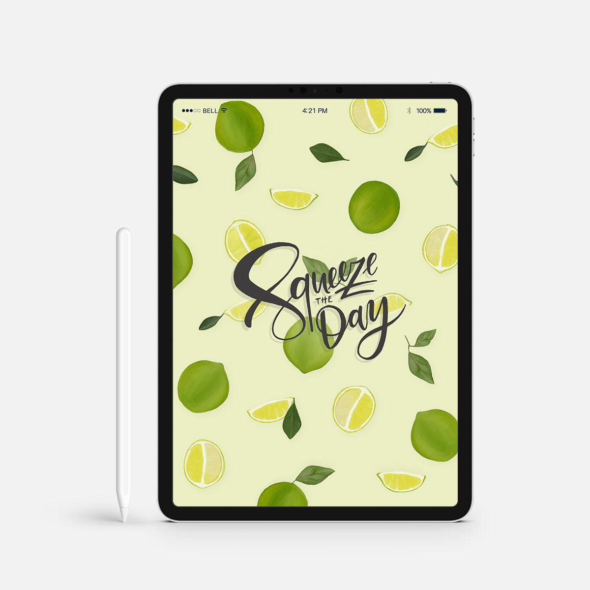 Squeeze the Day Wallpaper Limetten