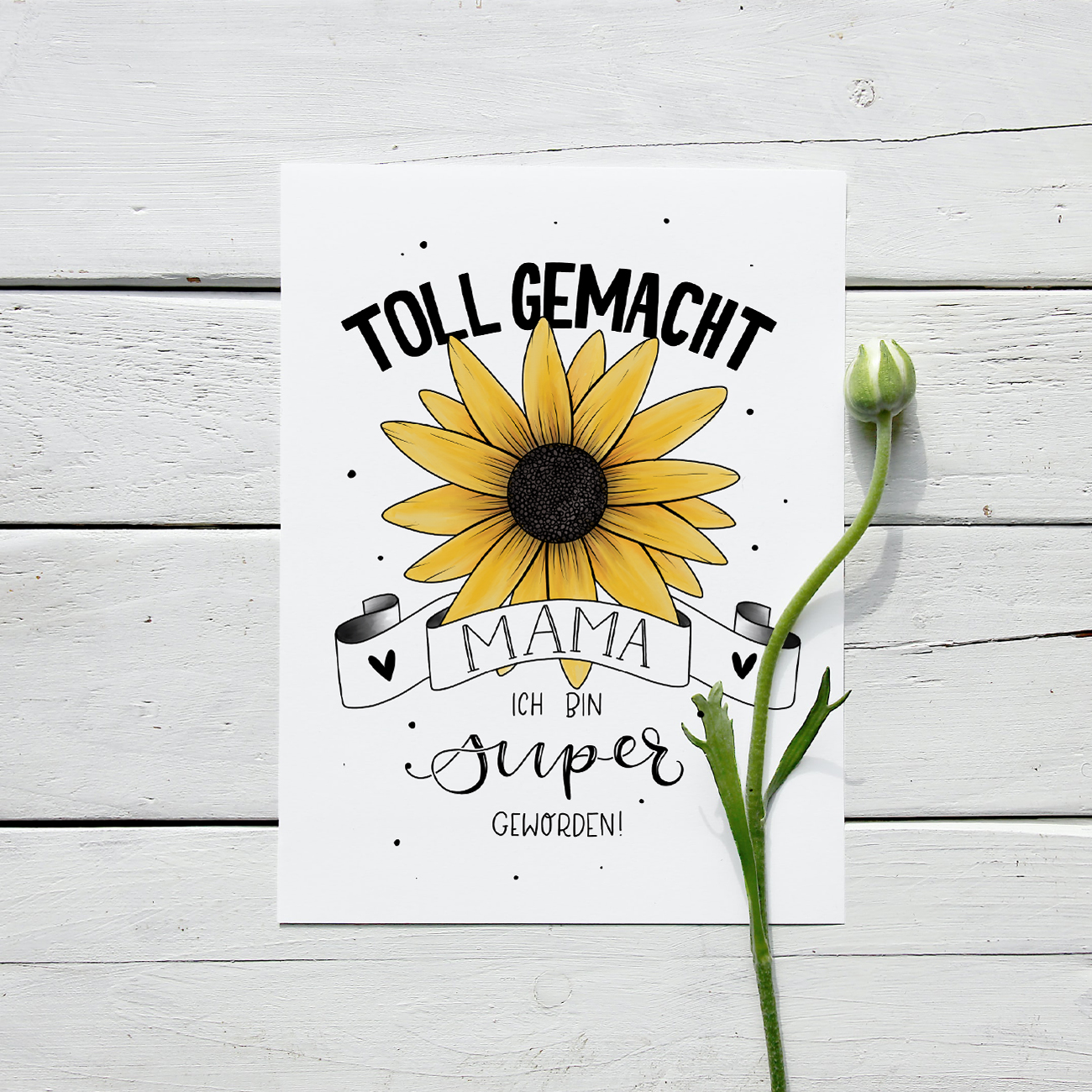 "Freebie Print-At-Home Muttertag ""Toll Gemacht"""