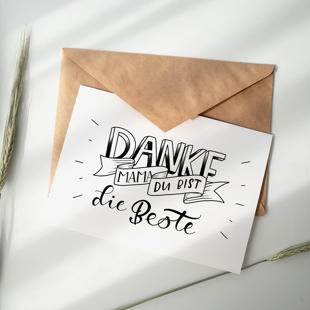 Freebie Print-At-Home Muttertag Danke!