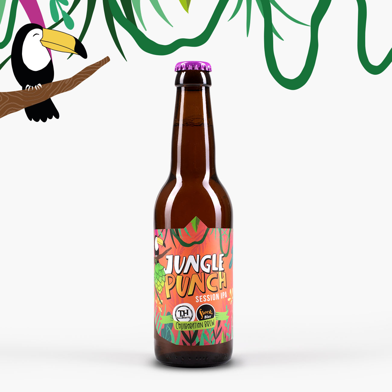 Tom & Harry Flecks Bieretiketten Jungle Punch